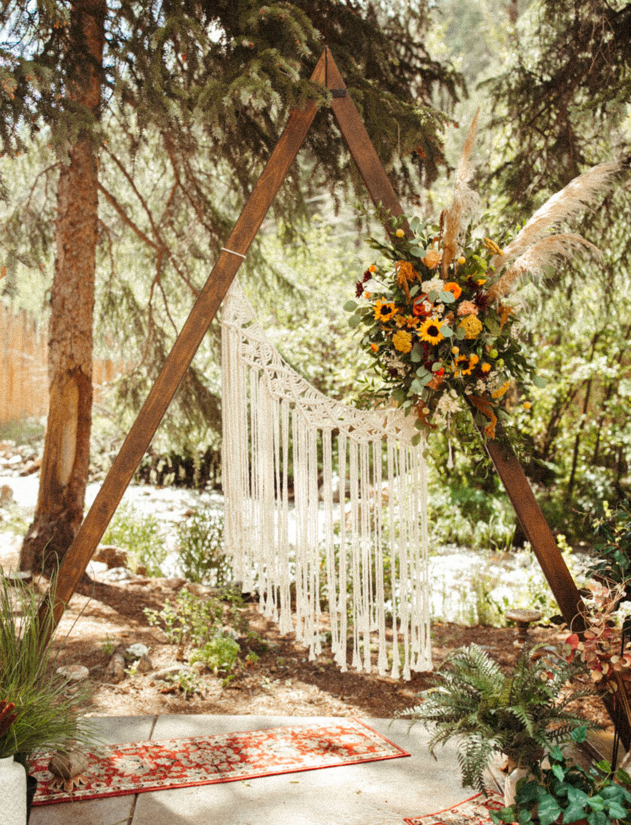 Among The Wildflowers: A Warm Boho Wedding in Idaho Springs, CO from Green Wedding Shoes