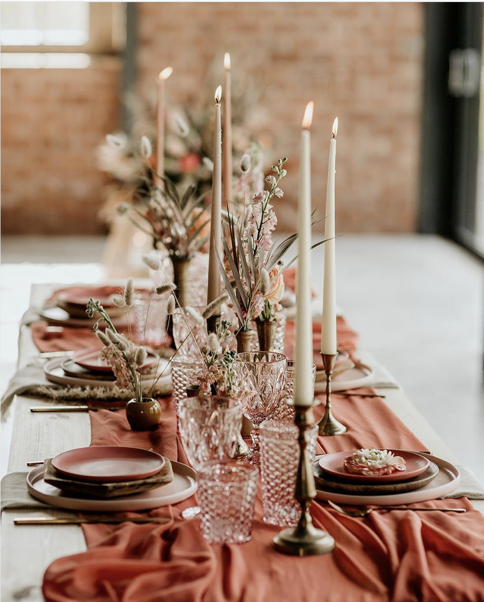 Autumn Wedding Tablescape ;  Photography by Elena Popa ;  Styling by Butler & White