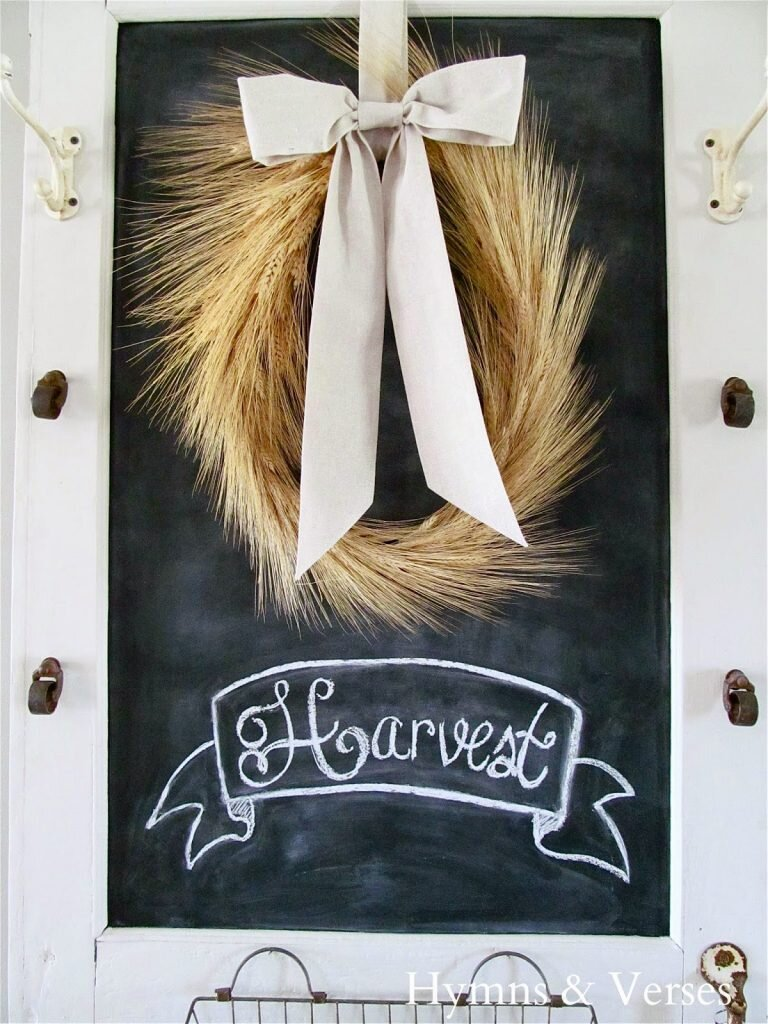 """We're loving this whimsical wheat wreath! The unique shape is created by making a wheat """"rope"""" — no wreath form needed here! The finished look is one-of-a-kind."""