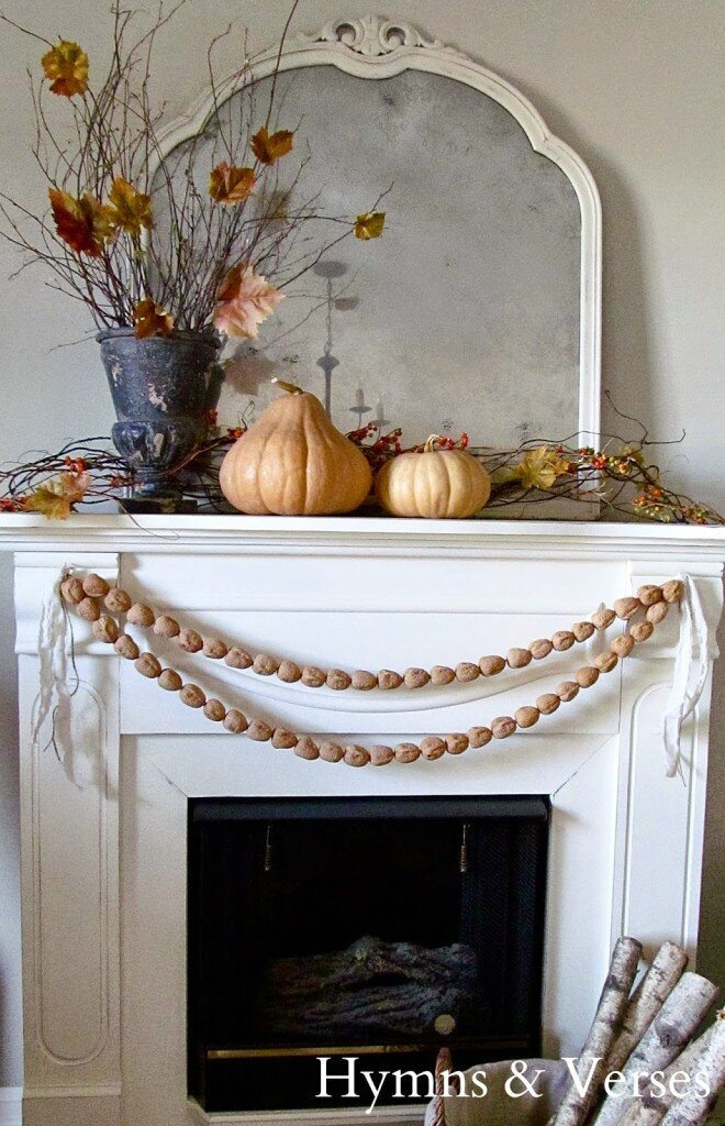 With a few simple, natural elements, Doreen from Hymns & Verses creates a picturesque mantel that invites you to curl up with a blanket and a good book.