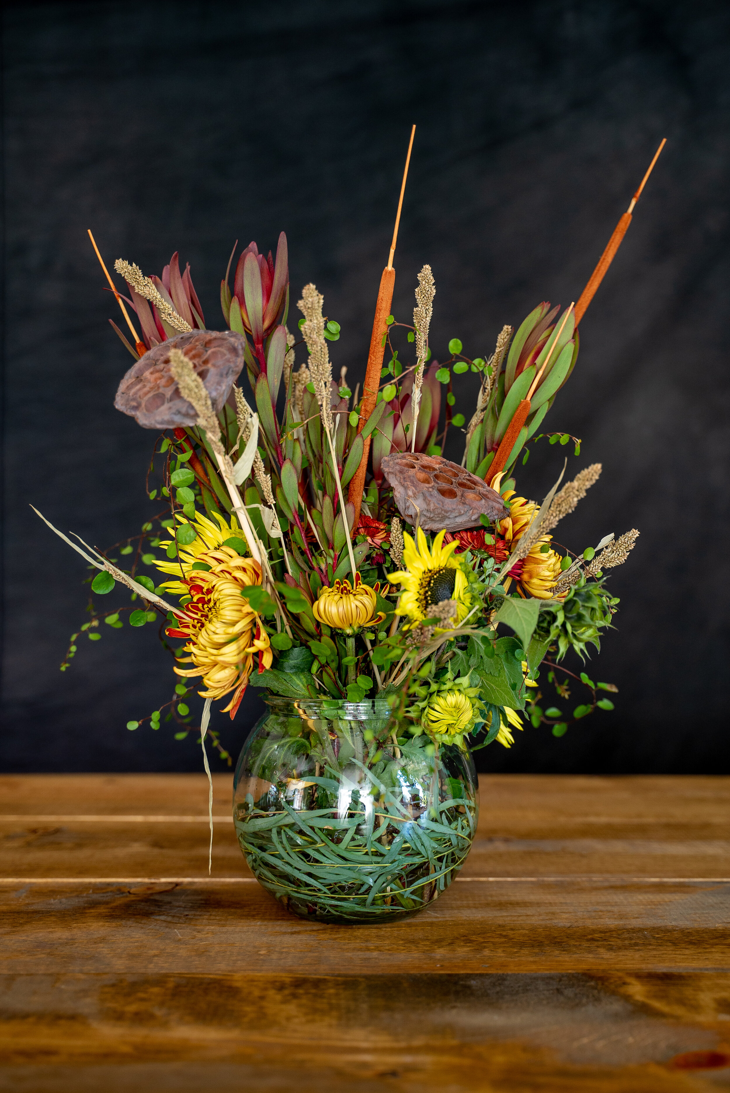 Fall Bouquet With Fresh Dried Flowers
