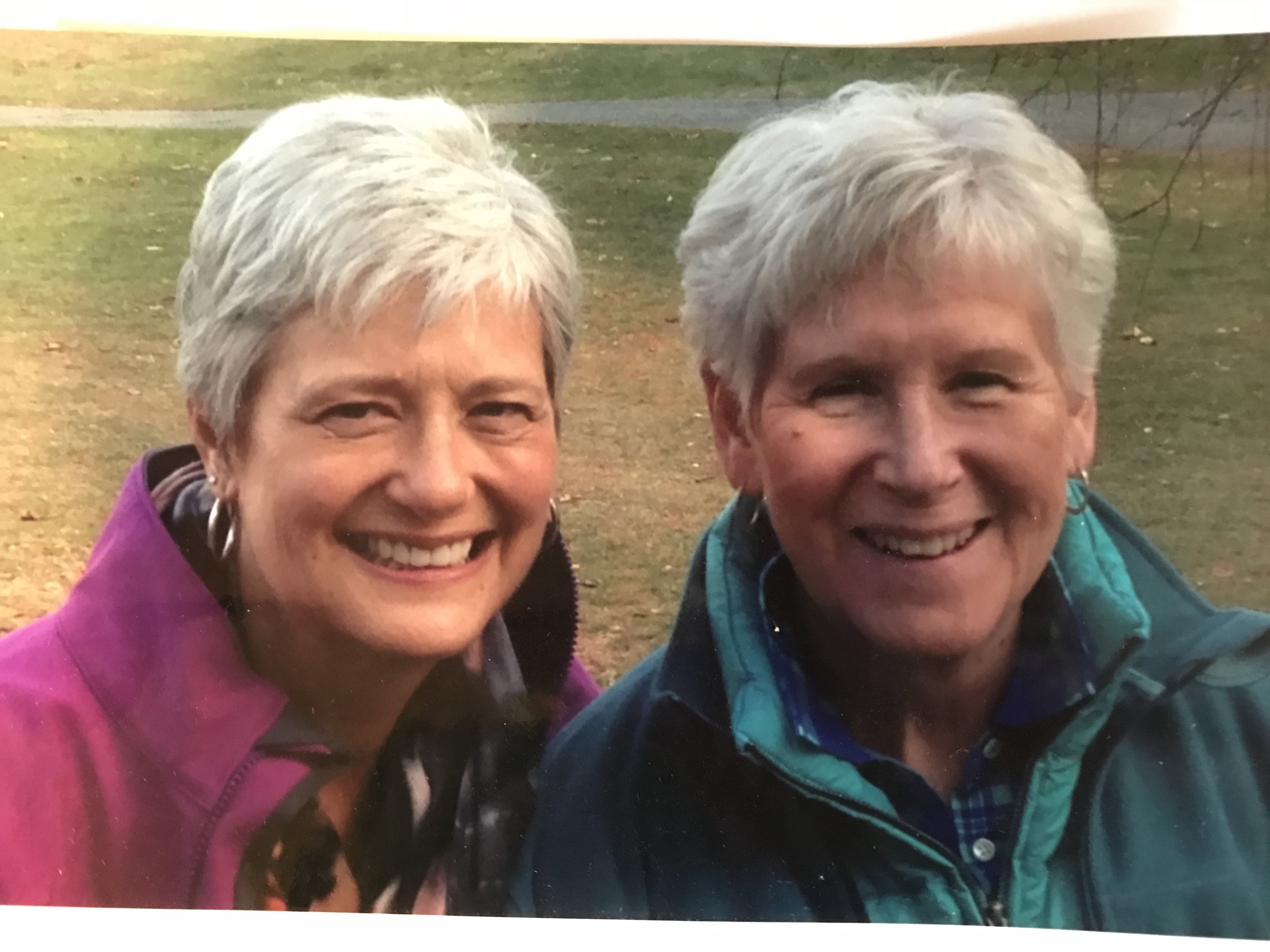 Barbara, right, and her sister, Ann.
