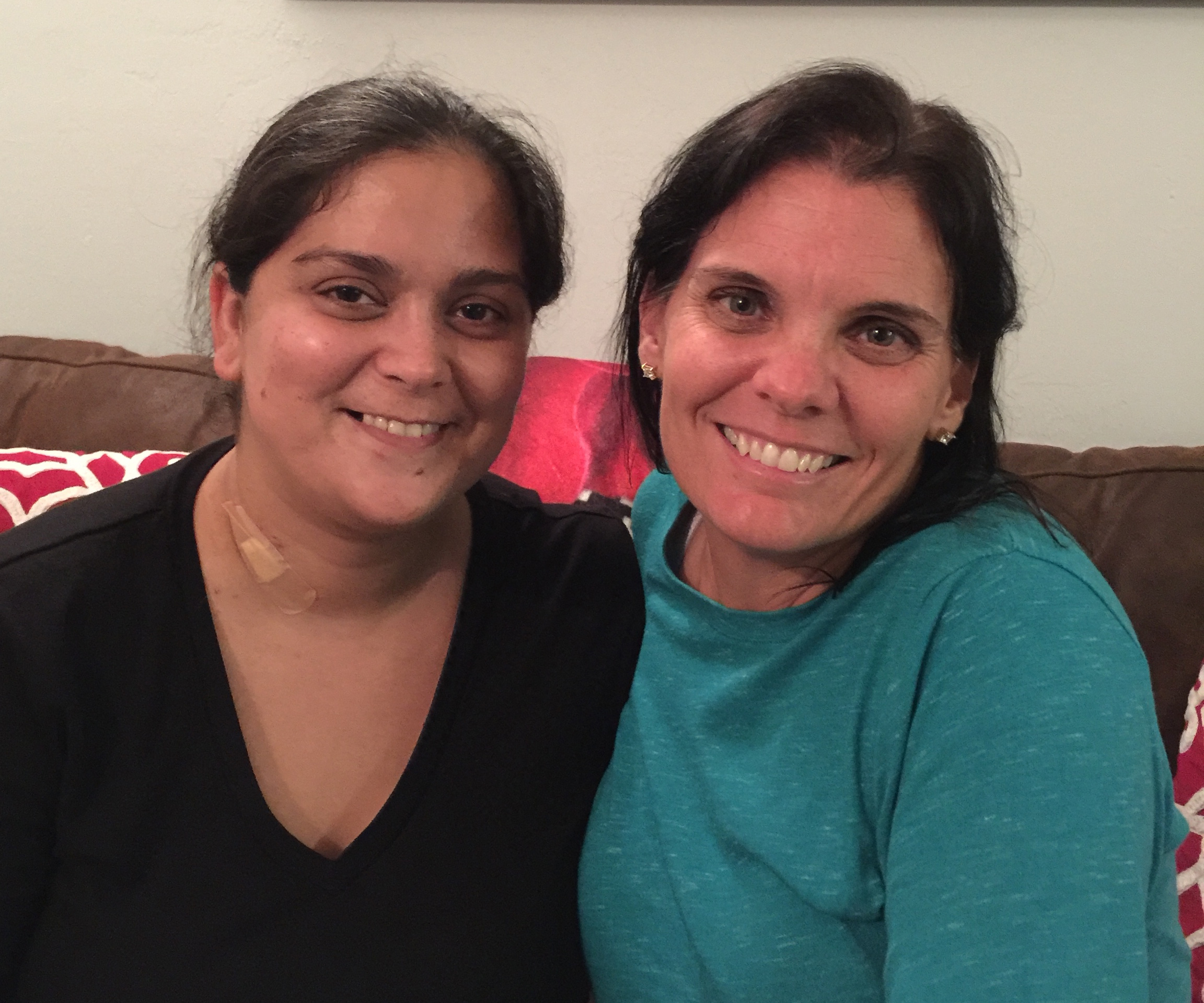 Donna Hoagland, right, and recipient, Anahita