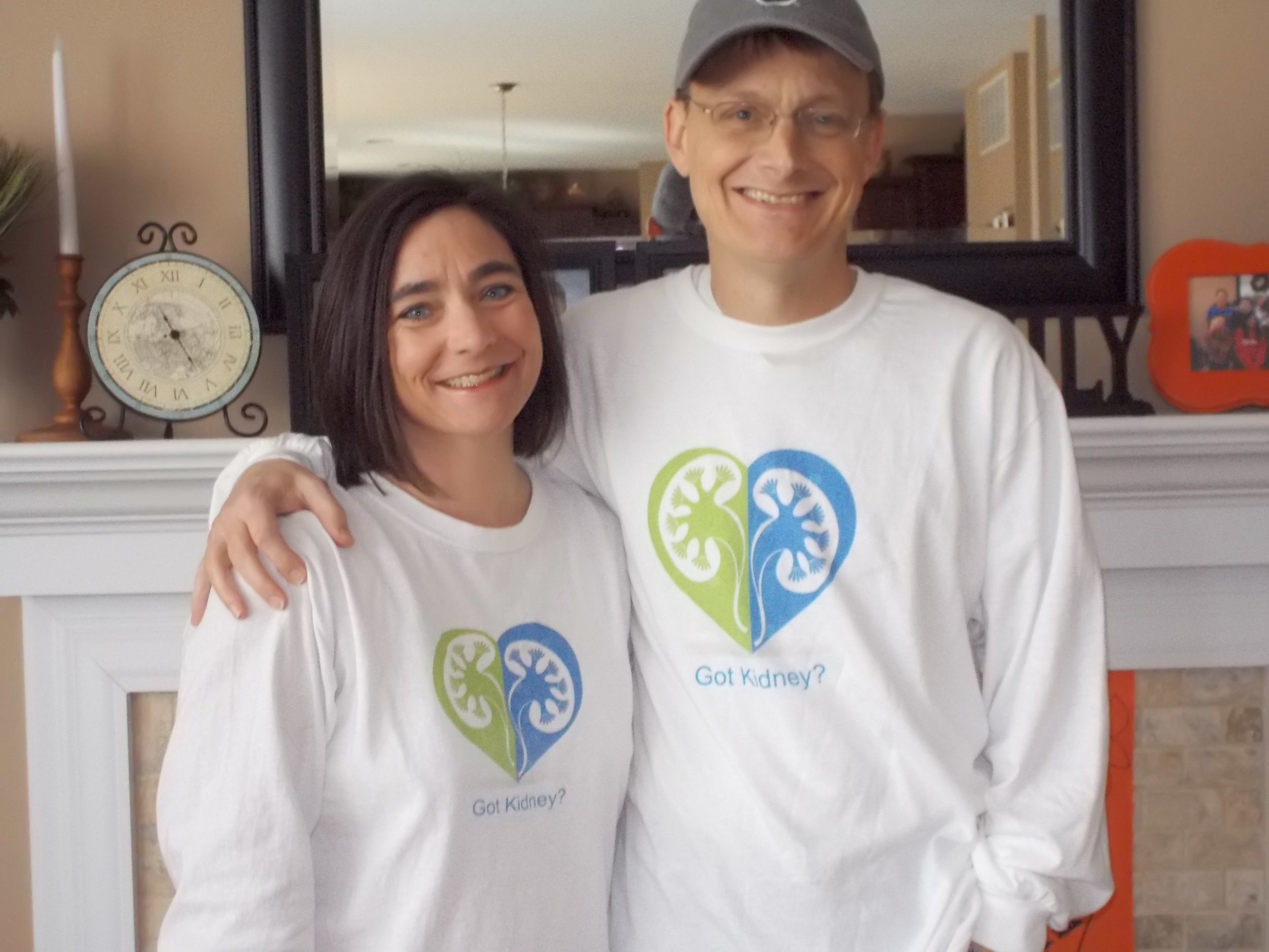 Shari and Jeff, recovered and feeling great after their kidney donation and kidney transplant surgeries.