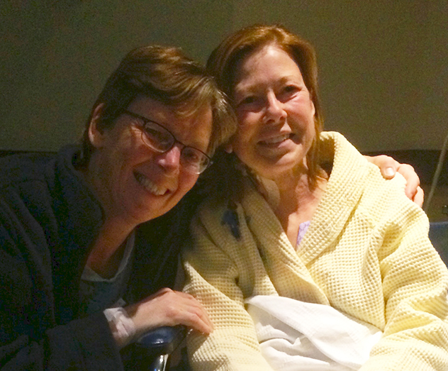 Wynie, left, and Lia, two days after surgery