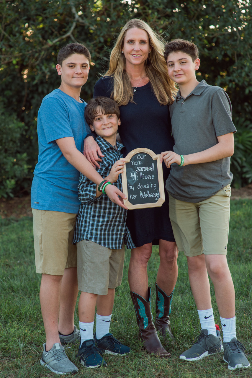 Jackson, Calum and Maddox Malouf learned about selfless giving through their parents' kidney donations.
