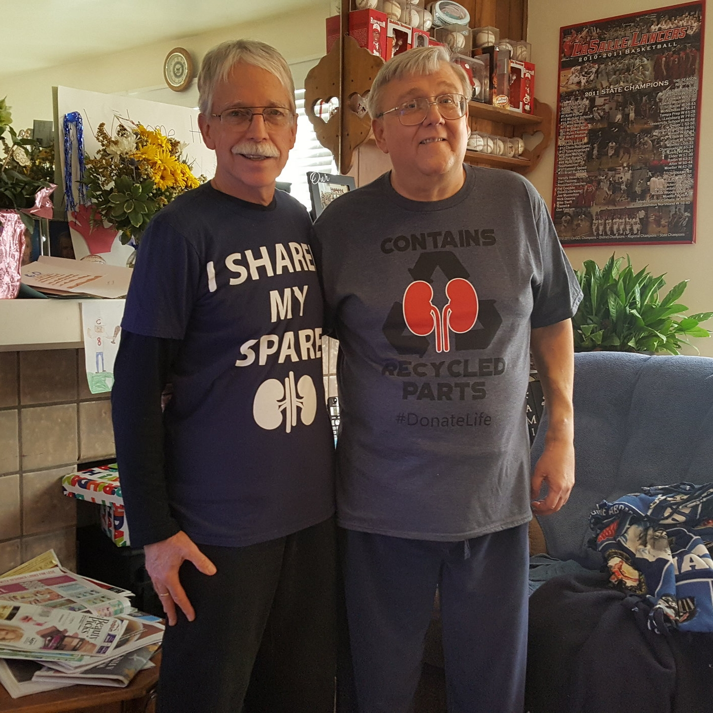 Don Frank, left, learned that he might be retired, but he still had lots of life to share with his brother-in-law Rick.