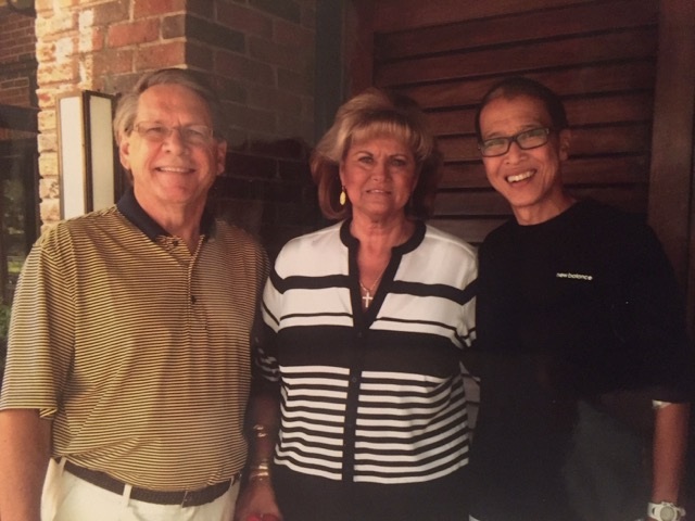 Three people linked forever through paired kidney exchange. When Steve (left) donated to a stranger,  Kai Fong (right) donated to a stranger, too—Steve's wife, Phyllis (center).