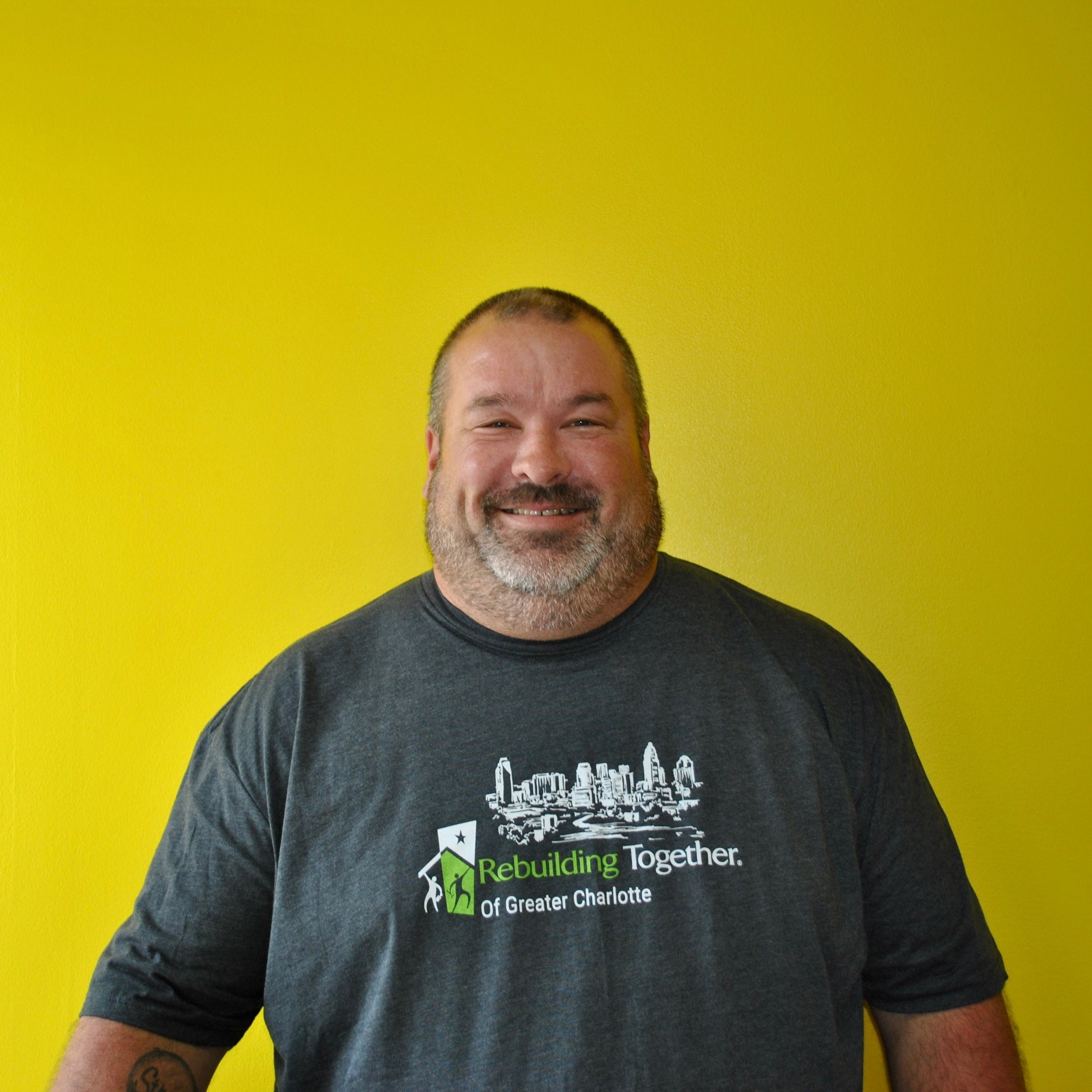 Brian Legassie - Construction Managerblegassie@rebuildingtogetherCLT.orgFavorite Word: AwesomeStrength: OrganizationBrian is in charge of overseeing all of construction, developing work scopes, ordering project materials, coordinating skilled trades, and so much more.He has been building and remodeling homes since he was 14 years old and enjoys it because he loves working with his hands. Brian picked working within the nonprofit sector because he wants to give back.