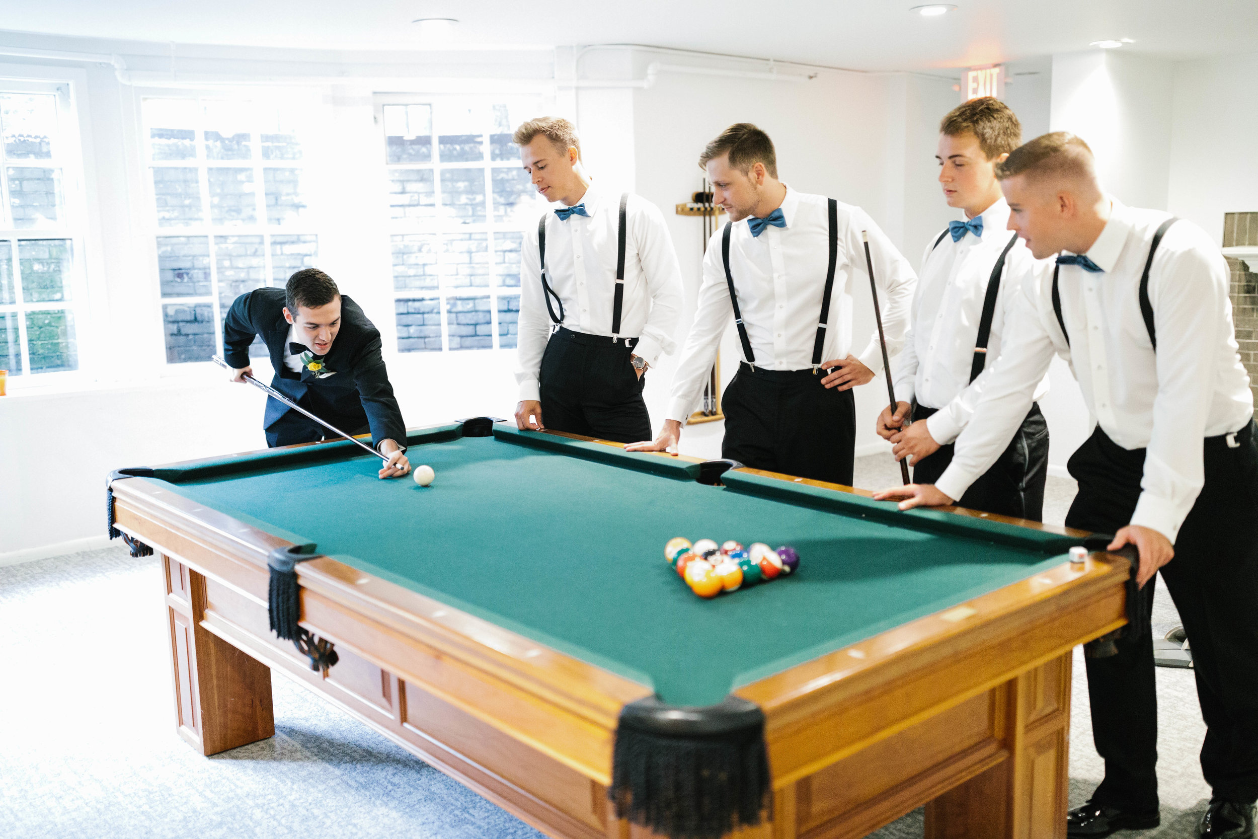 Billiard Lounge - The Lounge is a warm, relaxing space to entertain any group. The room features elegant lounge furniture, a television, and a pool table, perfect for kicking back before or after the main event.
