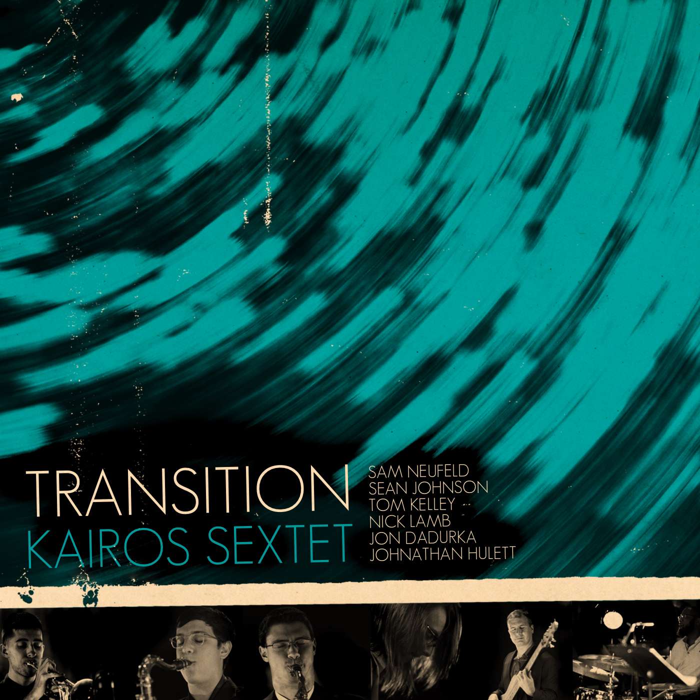 """Transition - MacArthur Fellow Dafnis Prieto presents Kairos Sextet,an all-star ensemble formed in the image of Dafnis's own ground-breaking group. The group's first outing, """"Transition,"""" is an homage to their mentor, Dafnis, and marks a turning point in the ensemble's trajectory. Under Prieto's tutelage the group has evolved from simply a group of exceptional individual musicians, becoming an exceptional group with a collective vision and unique voice. The album is comprised of all original material and includes Prieto's composition, """"Triangles and Circles,"""" as it was arranged for his own sextet.Sam Neufeld - TrumpetSean Johnson - Tenor SaxophoneTom Kelley - Alto and Soprano SaxophoneNick Lamb - PianoJon Dadurka - BassJonathan Hulett - Drums"""