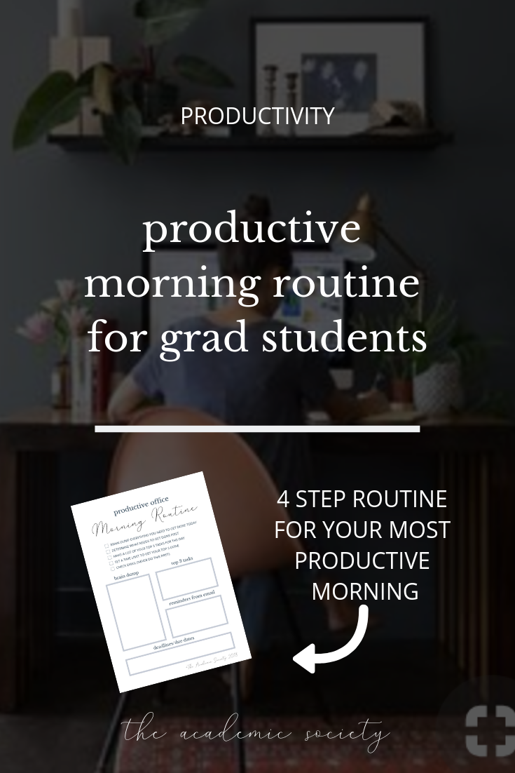 How to Manage your time and be productive in grad school, the academic society for grad students