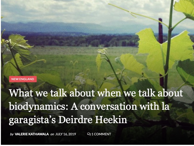 Digging into biodynamics - One vigneronne reflects on how Rudolph Steiner's philosophy and practice fit into her Vermont vineyards. July 2019