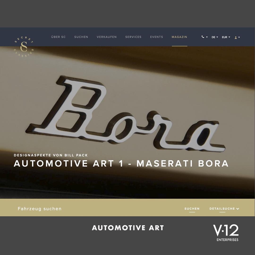 Automotive Art 1 - Maserati Bora