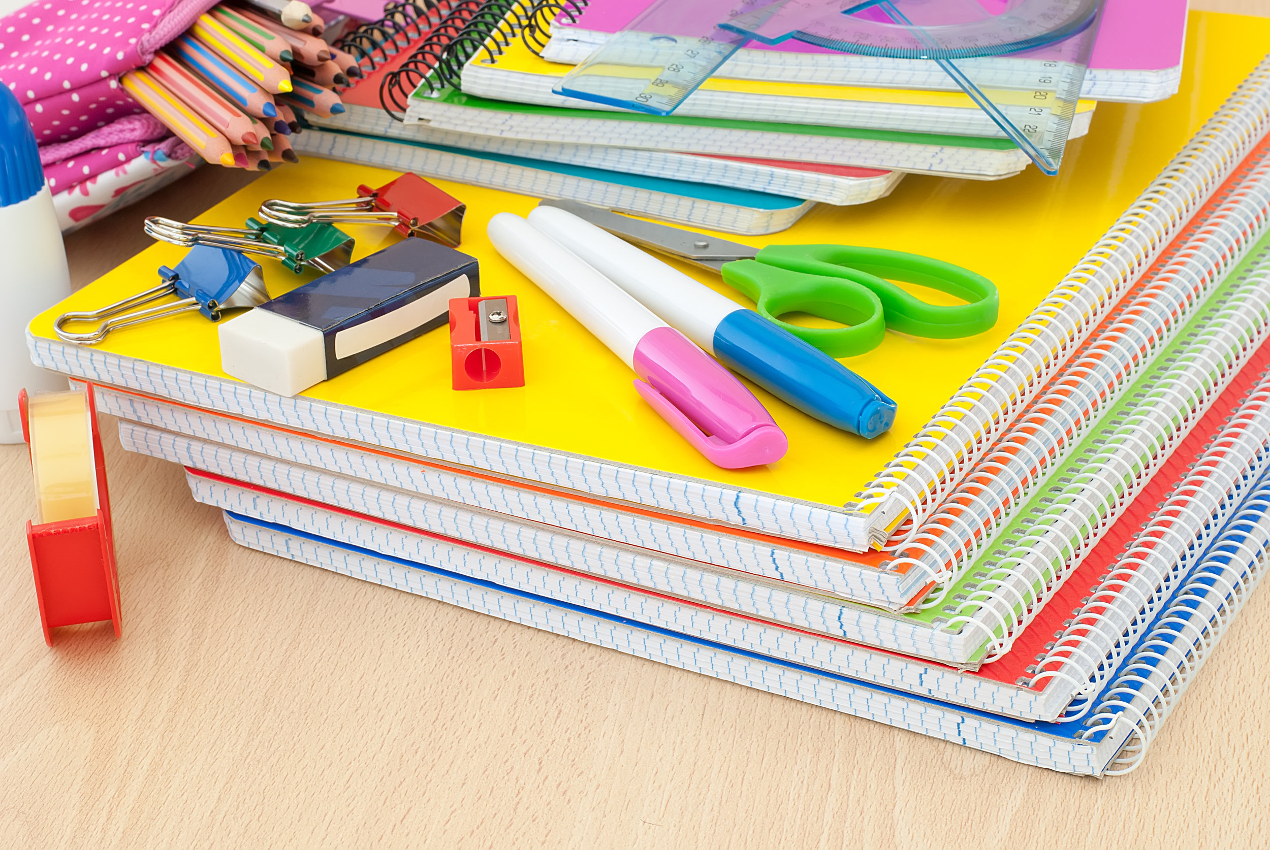 Don't spend your summer driving from store to store to purchase school supplies!