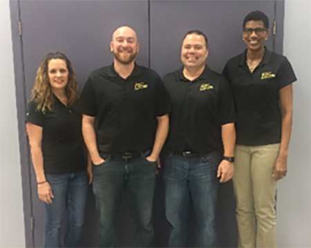 (left to right): LAFCAA's Katie Alombro, Business Manager;  Andy Poteet, E-Commerce Manager; Jeff Martin, Consignor Sales Manager; and Tenna Cooper, Inside Sales and Administrative Manager.