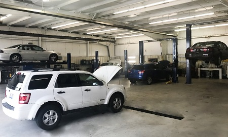The new mechanical facility at Greater Rockford Auto Auction includes four new lifts, and will allow for more mechanical repairs and regular inspections to be made before and after the sale.