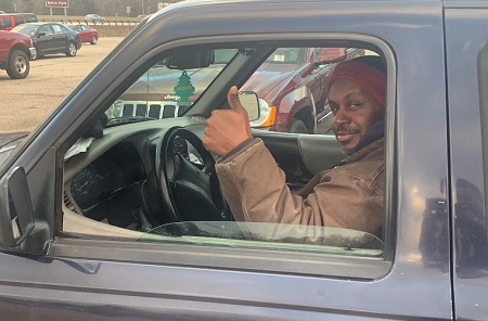 Reggie Gooden, Akron Auto Auction's Lot Manager led the team's efforts to battle the snow and cold during January's Polar Vortex