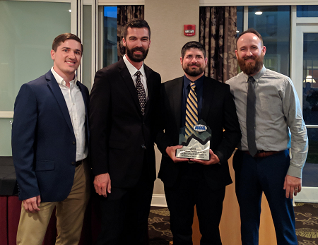 ARI presents Auction of the Year Award to Louisiana's 1st Choice Auto Auction     (left to right): James Terman ( Market Sales Administrator, ARI ) Matt Alombro (LAFCAA Auction Manager), Mike McCollum ( LAFCAA Fleet Lease Manager) , Matt Coluzzi (Remarketer, ARI)