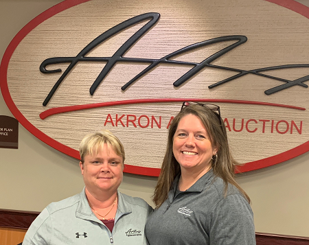 "Tricia Short (left), has been named General Manager of Akron Auto Auction. Along with this change, the Controller position will be filled by 20+ year Akron Auto Auction employee Julie ""Chrissy"" Grabill (right)."