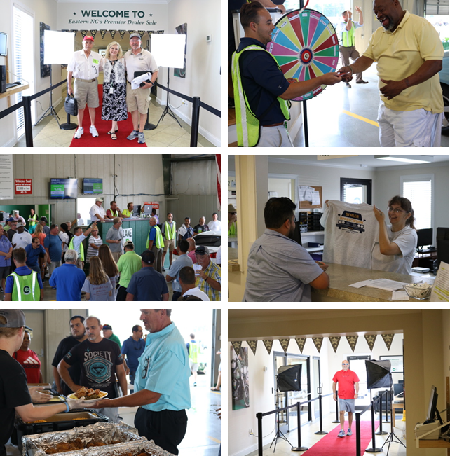 Greenville Auto Auction roled out the red carpet for its Dealer Appreciation Sale in June, offering free t-shirts, a great lunch and exciting prizes.