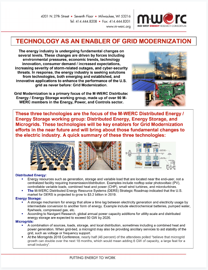 Grid Modernization Two-pager