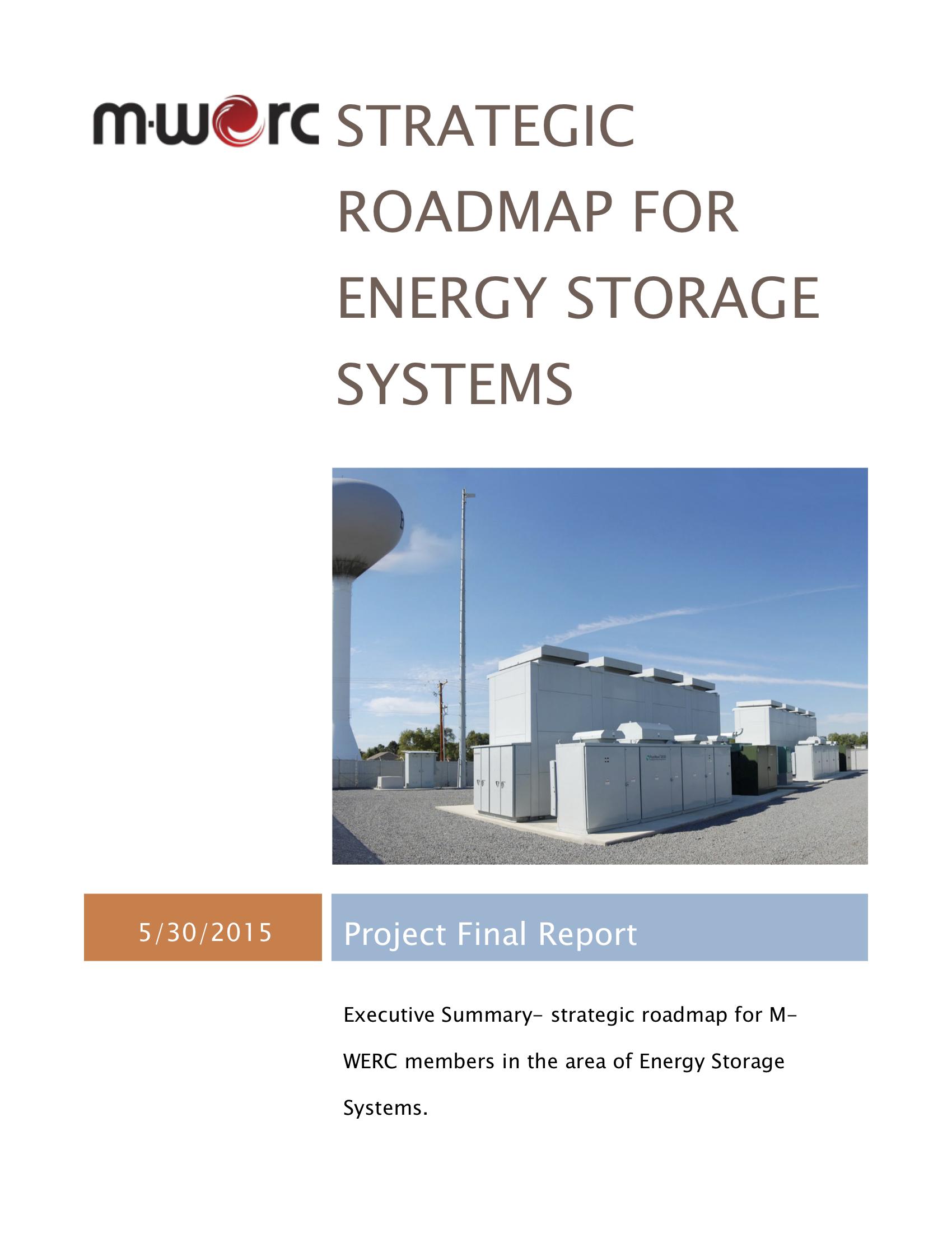 Energy Storage System Executive Summary