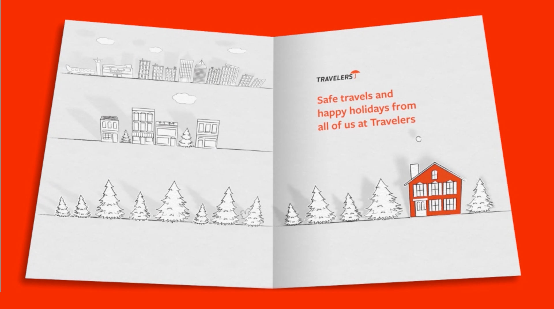 Travelers Digital Holiday Card