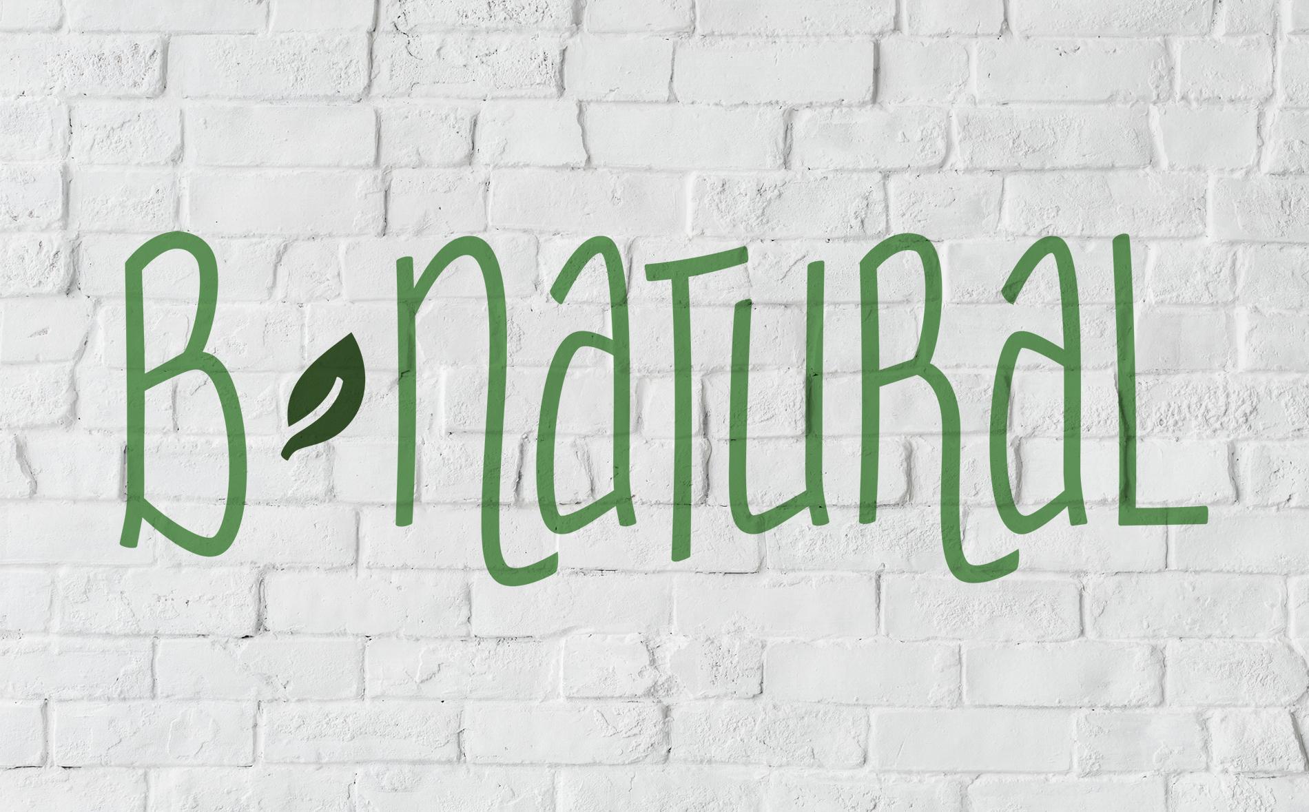 B Natural Logo & Signage