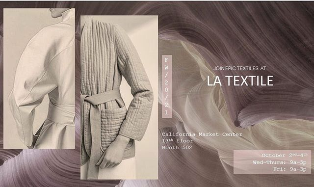 Join us this week @latextile show at @cmcdtla for an amazing event for all your #fw2021 sourcing needs- see you there!!
