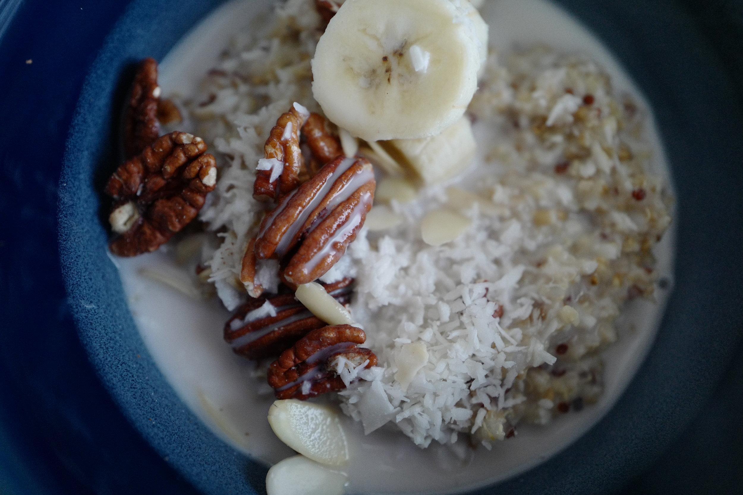 Quinoa Coconut Porridge- Food- A Briutiful Life