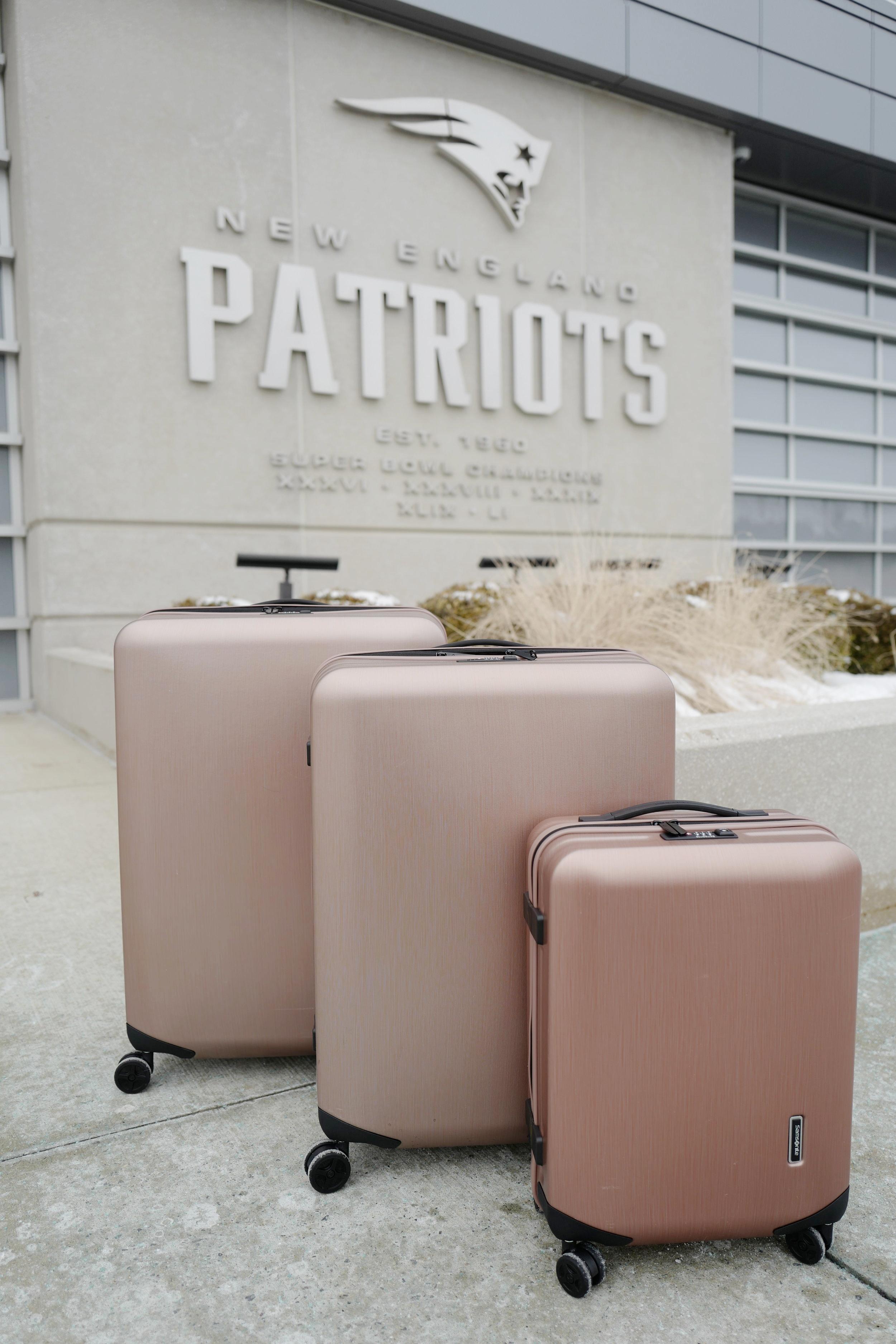 Samsonite luggage rose gold