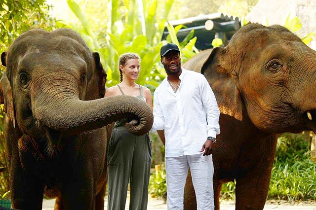 Life with you is the best!! I love you🐘🌴🌏#elephantsantuary #whatarewelookingat #travelbuddy #travelcouple #reminiscing #protectourplanet