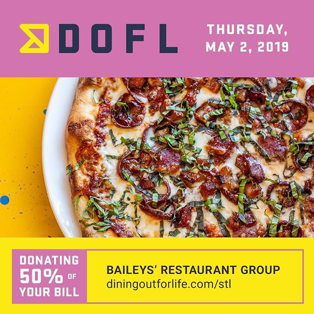 5️⃣0️⃣% ALL DAY TODAY!! Dine Out. End HIV. Join us for lunch and/or dinner! 🍽 Dine in •carry out • delivery  @stlefa  #doflstl #midtownalley #stlfoodie #giveback #hugospizzeria