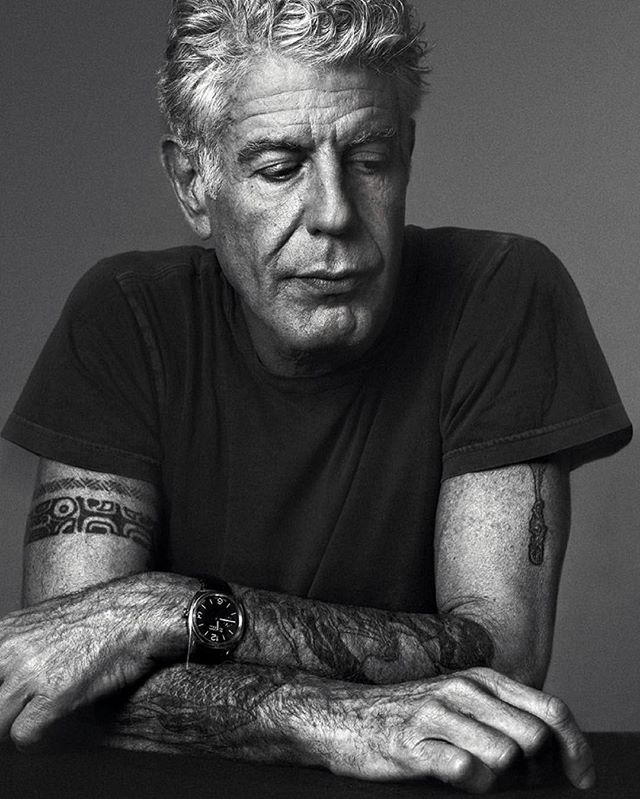 "What an inspiration you've always been to me and so many of us @anthonybourdain 💔. I love this description of him by his colleagues... ""He's irreverent, honest, curious, never condescending, never obsequious, People open up to him and, in doing so, often reveal more about their hometowns or homelands than a traditional reporter could hope to document."" May you rest easy. Thank you for being a fearless pioneer to all looking to make genuine connections 🙌🏽... . . . #anthonybourdain  #willbemissed #legend #badass #askforhelp #suicideprevention"