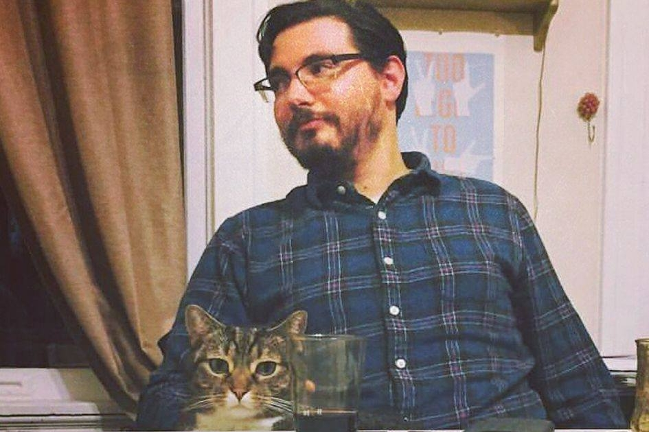 Trevor Williams - Trevor is a host of Now Available on Video Cassette. He is an improvisor and plays lead guitar for the band Cheshi.