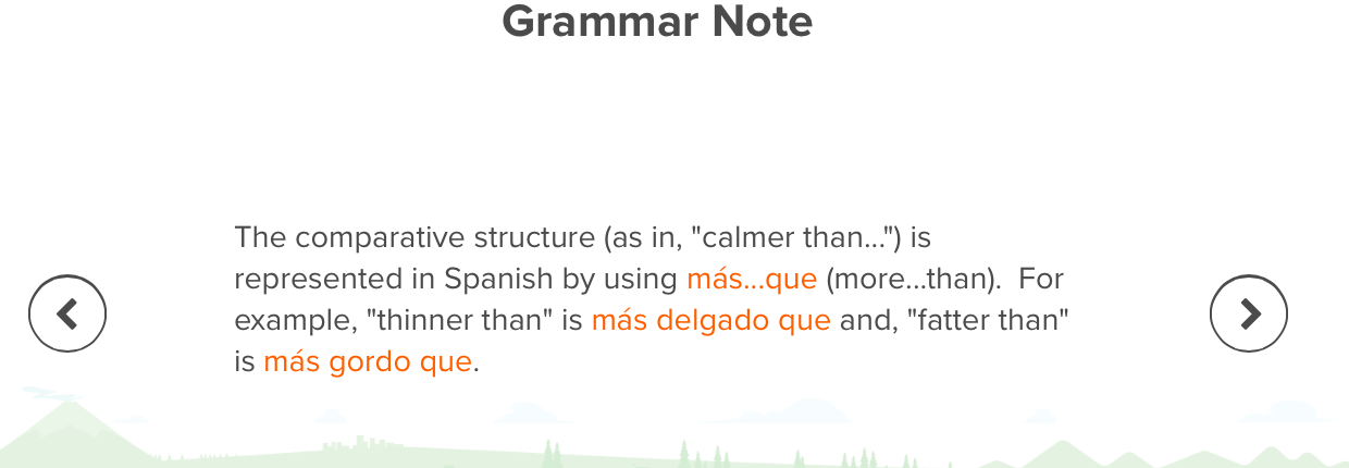 Here's an example of the clear grammar explanations that Mango provides.