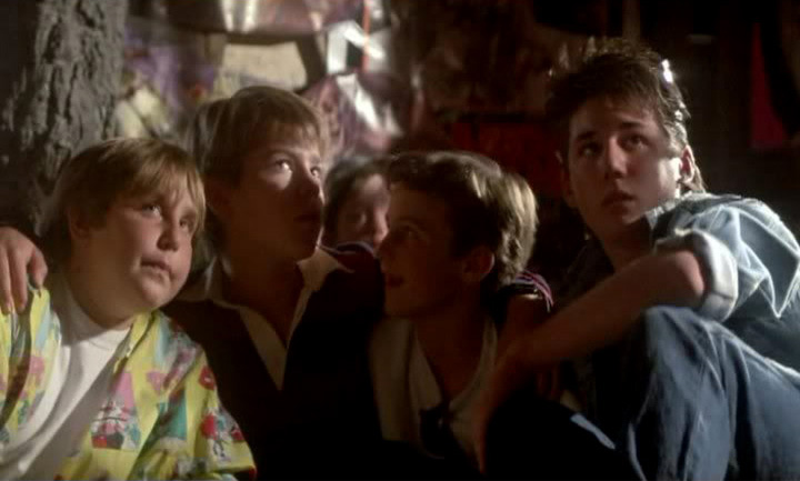 Above: A scene from  The Goonies.  Or  Super 8 , maybe? No, it might be  The Monster Squad. E.T.?