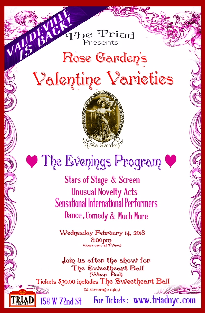 """Join me! - It is thrilling to have been asked to be part of this Vaudeville Show on Valentines Day - February 14th at 8pm!I've been doing the """"vaudeville thing"""" for ever! Happy Valentines Day ️!Sharon"""