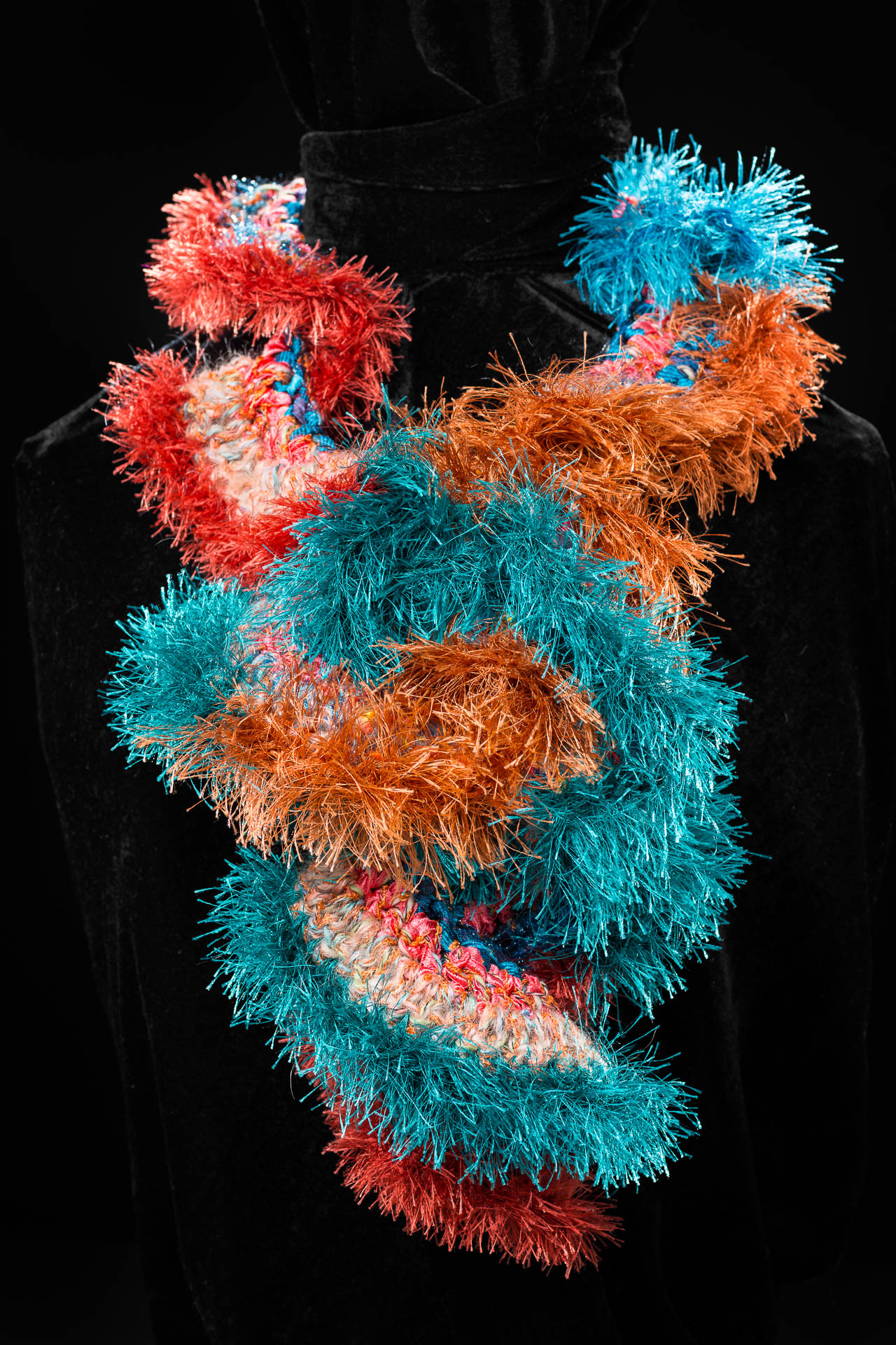 orange & blue scarf 'Gloria Shelton #1'.jpg