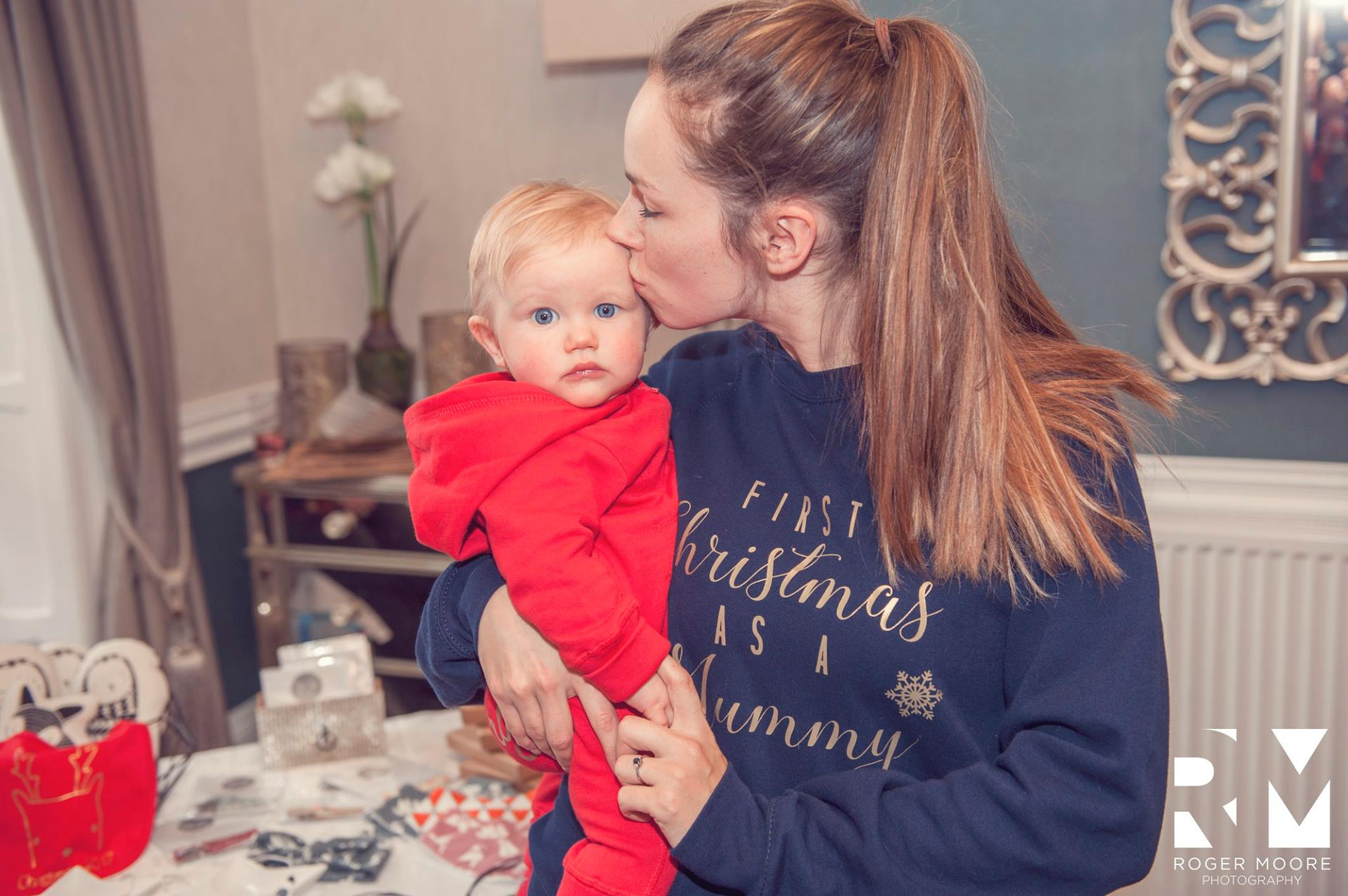 Lovely image captured by Roger Moore Photography of me and my Little Hen just before Christmas in our Whoopsie Daisie designs!