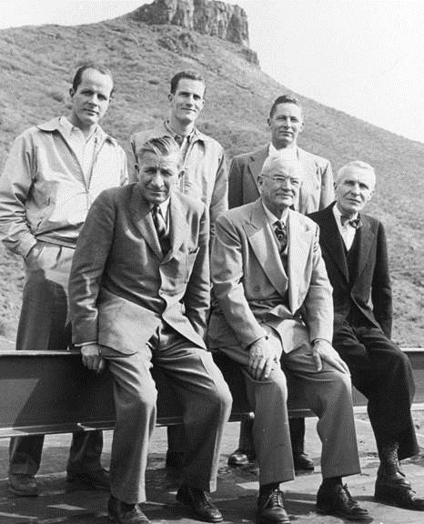 Back row left to right: Bill, Joe Sr, Ad III / Front row left to right: Grover, Herman, Adolph Jr - 1952