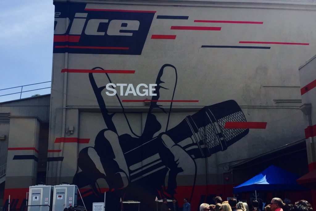 The Voice stage area