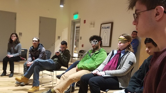 Students learned about advocacy with a local lawyer who is blind. During part of the workshop, people with sight were blindfolded so they could better understand what people with vision impairments experience every day.