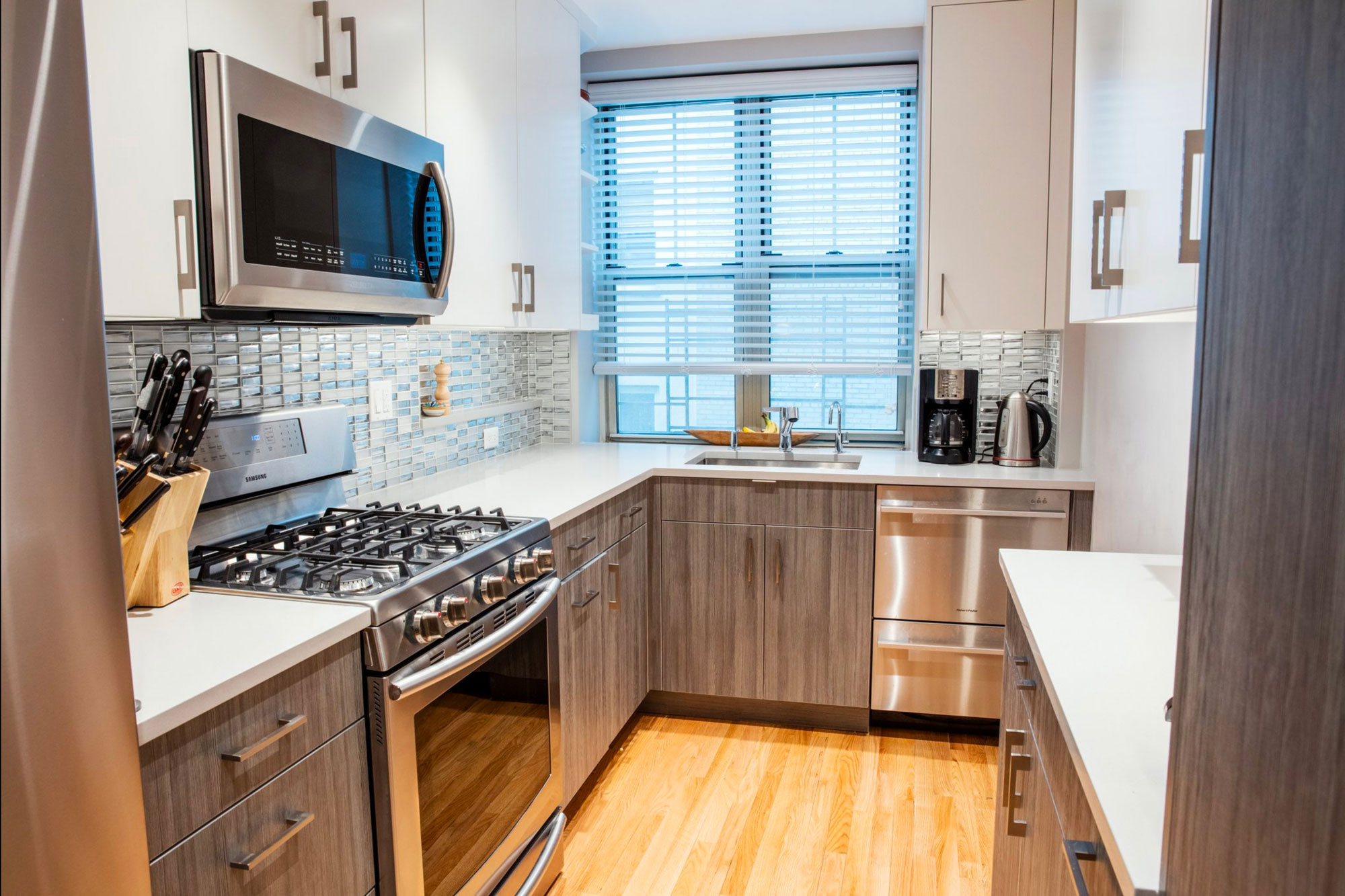 """""""I'm very proud of the kitchen,"""" Mr. Parker said, which was recently remodeled."""