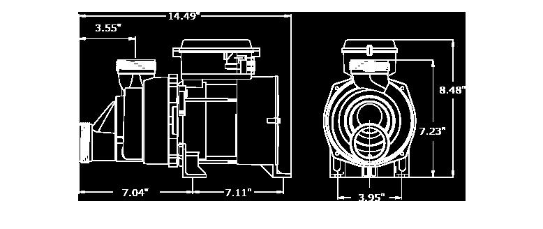 Veuillez noter que les dimensions peuvent légèrement varier en fonction de la sélection des composantes. Nous avons illustré ici la plus grande configuration de la WhirlMaster.