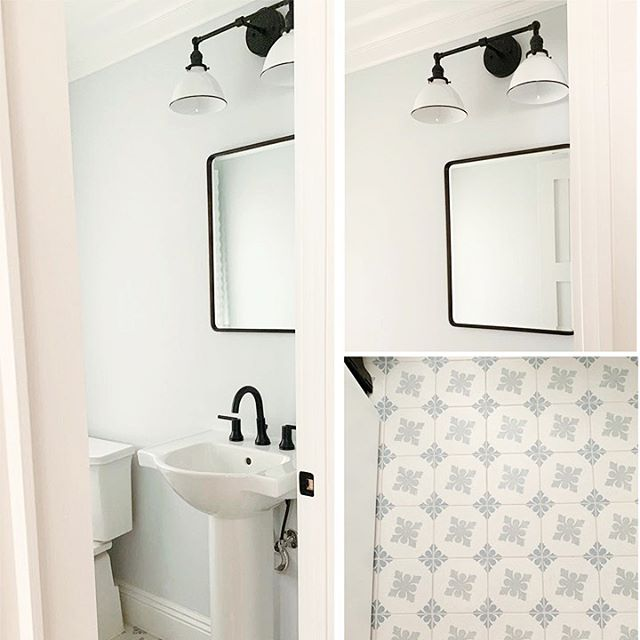 This #powderroom packs a lot of punch in a small space! Tomorrow I'm doing tile selection for a new bathroom project and it's making me remember how much I loved selecting this fun mosaic tile ♥️ Design and 📷 by @christieadamsdesign - - - #njmom #njmompreneur #bergenmama #201family #bergencountymom