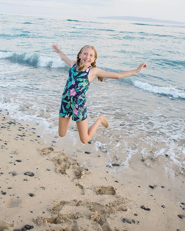 Celebrating our blondie who turns 11 today!! This photo from Maui perfectly captures the free spirit that she is.  Always ready to have fun. Always up for a snuggle. Always happy to watch The Office.  She is the extrovert in our family of introverts.  She is the one who makes us laugh the most and still wants to hold our hands.  Happy Birthday Thérèse Juliette !