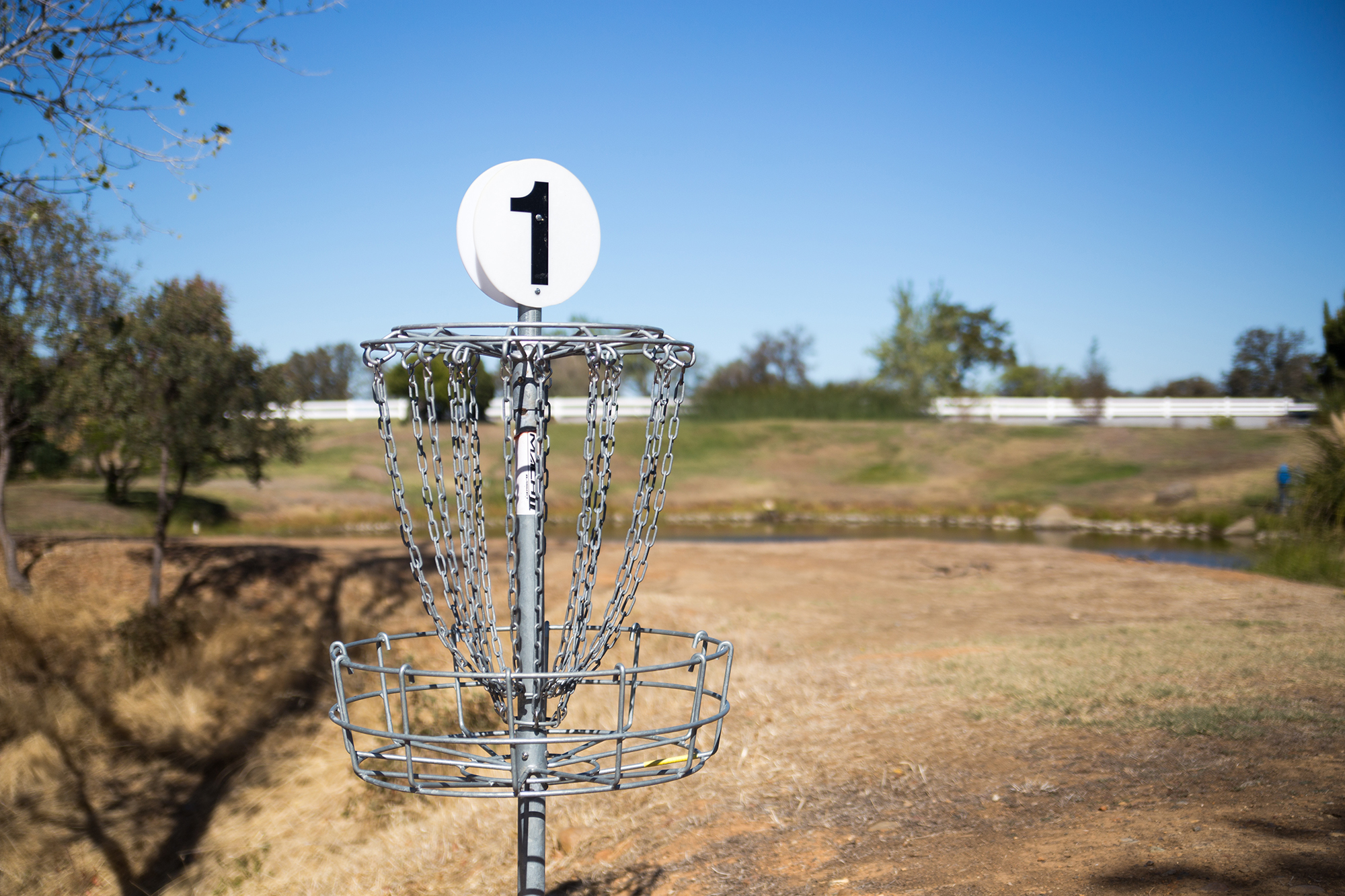 Disc Golf Course - Disc Golf, commonly known as frisbee golf, is easy to learn and FUN to play, and it is suitable for all ages. Played like traditional ball golf, Disc Golf involves throwing a disc from a tee off point to a target (usually a metal basket with chains). Players will keep count of throws (or strokes); the lowest number of strokes wins.  So, come play a round or two behind Goff Hall on our 9 hole course with 2 levels of difficulty.
