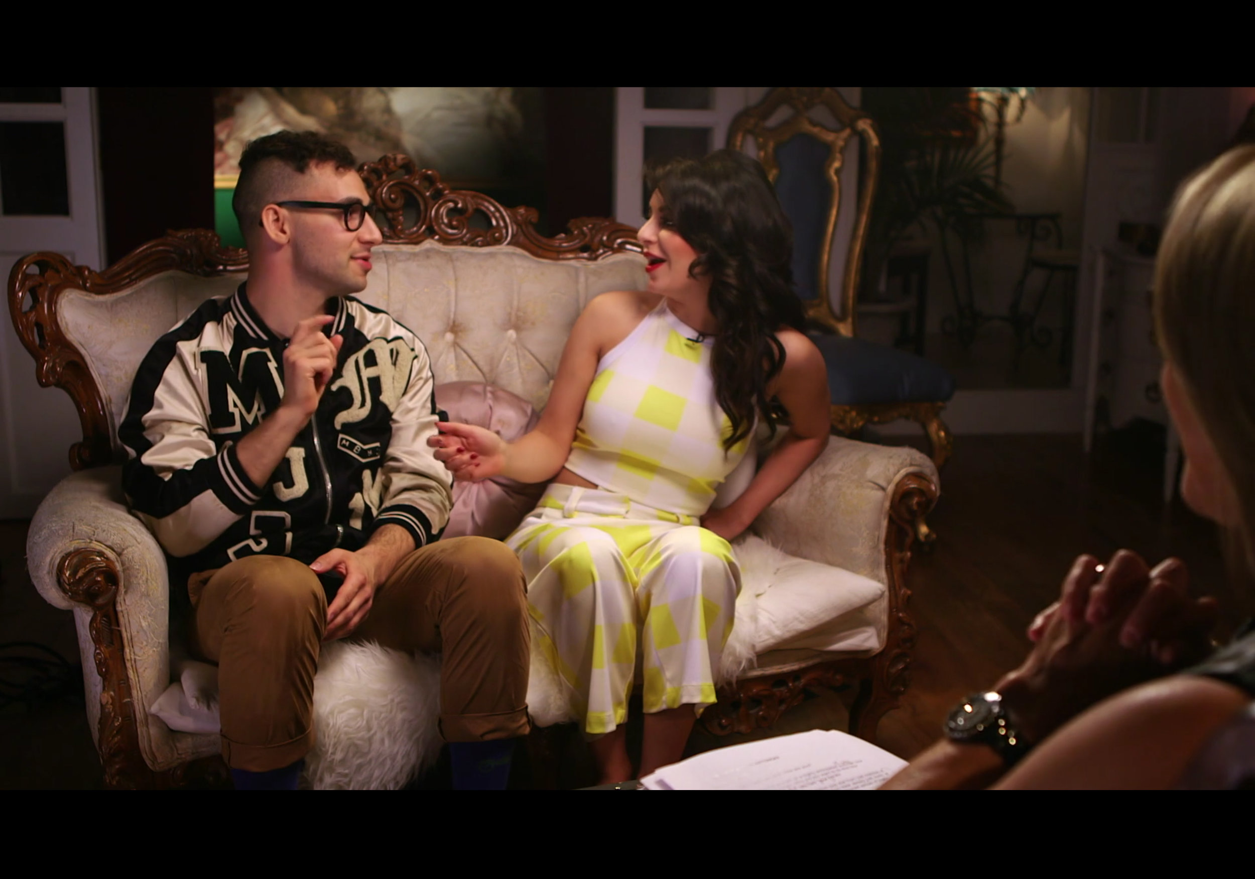 Katie Couric  interviewed  Charlie XCX and Jack Antonoff for Yahoo Music